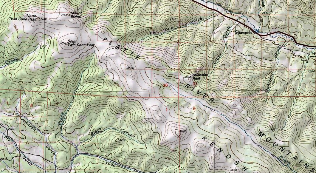 Platte River Mountains Map