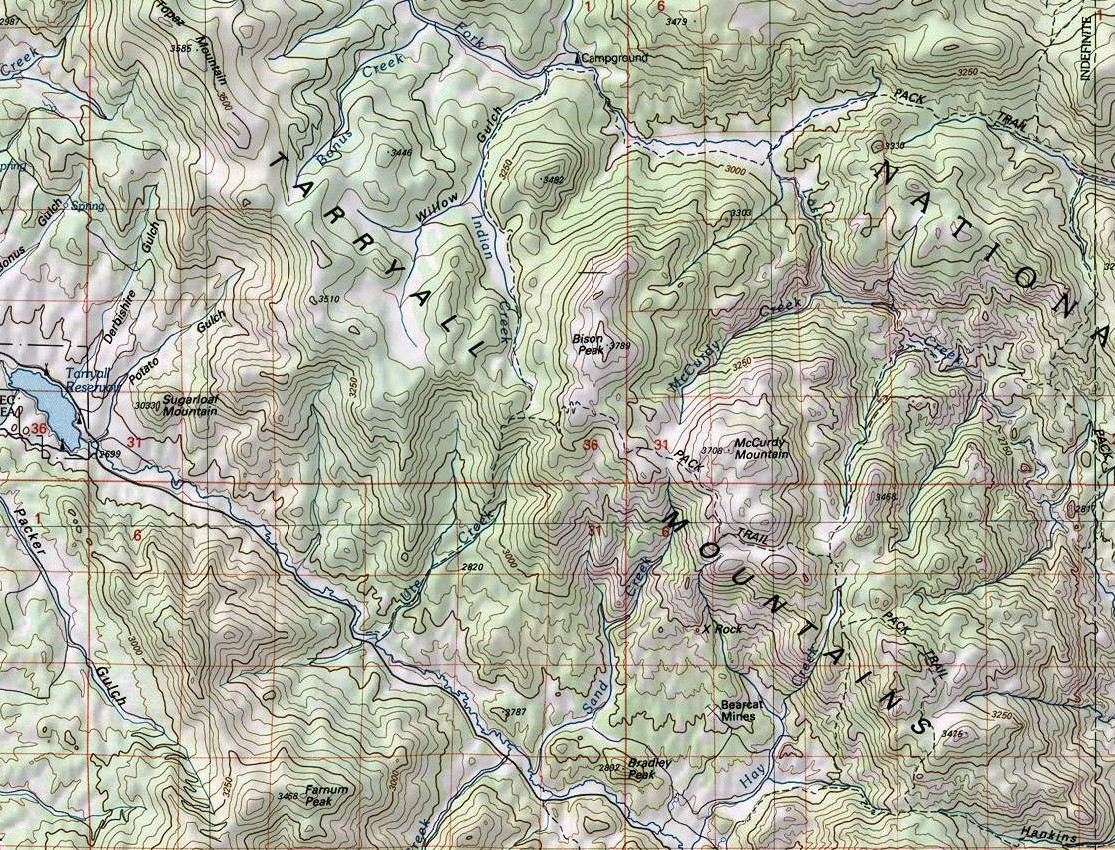 Tarryall Mountains Map