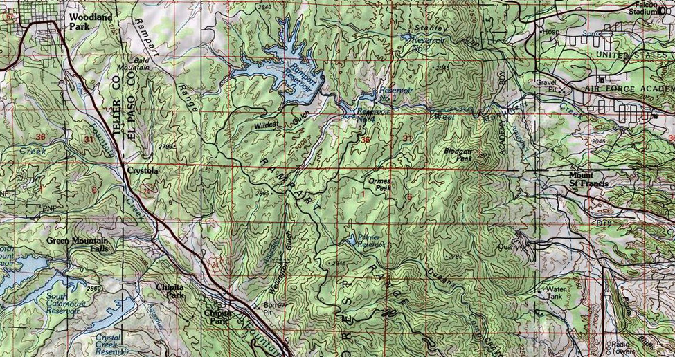 Rampart Range Map