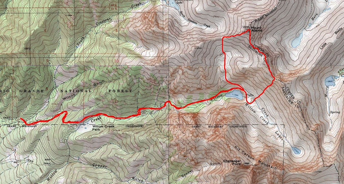 Mount Adams Route Map