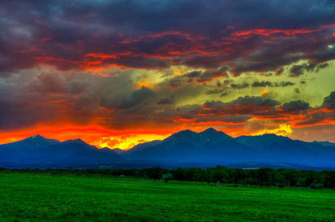 Sunset over Mount Shavano HDR