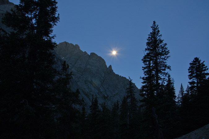Full moon in the Sangres