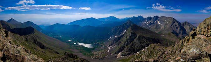 Horn Lakes from Mount Adams Panoramic