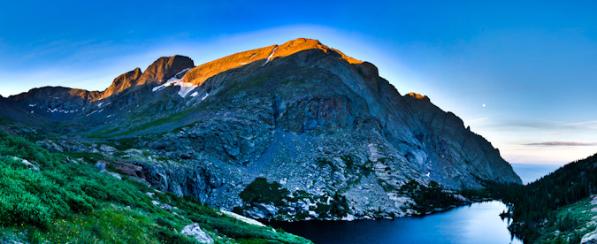 Willow Lake and Kit Carson Peak HDR Sunrise