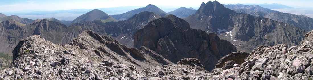 Kit Carson Mountain summit pano