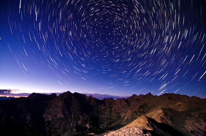 Star Trails over Chicago Basin