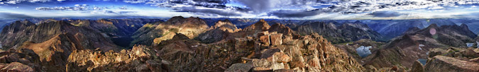360 panoramic from Windom Peak HDR