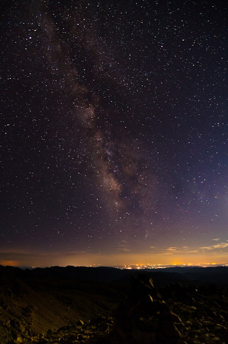 Milky Way over Durango Colorado