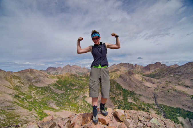 Sarah Musick on her 4th 13er