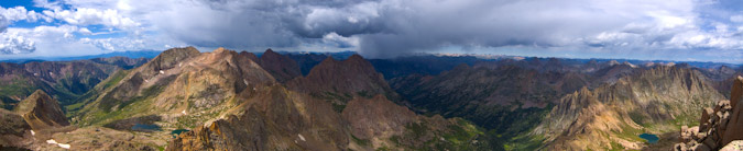 Pano from Sunlight Peak