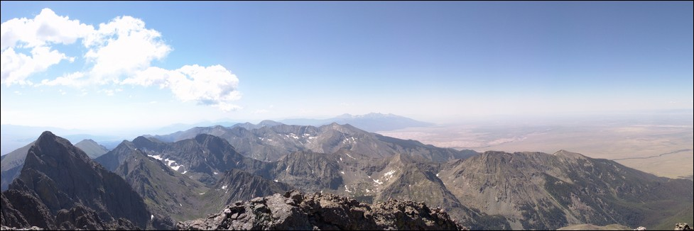 Crestone Peak Summit Pano