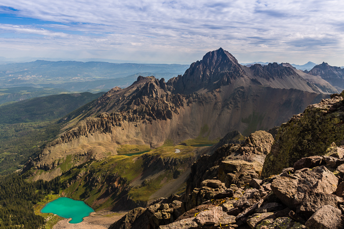 Mount Sneffels and Blue Lake