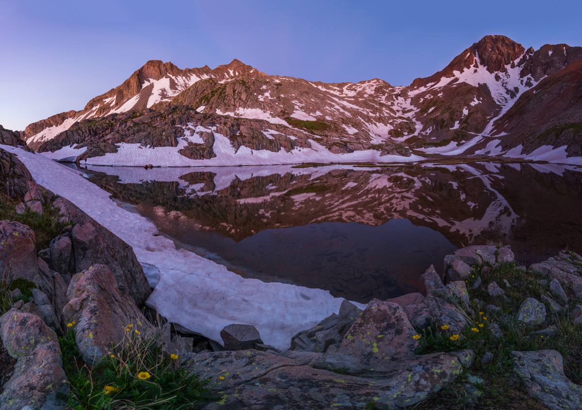 Gladstone and Wilson Peak panorama at sunrise