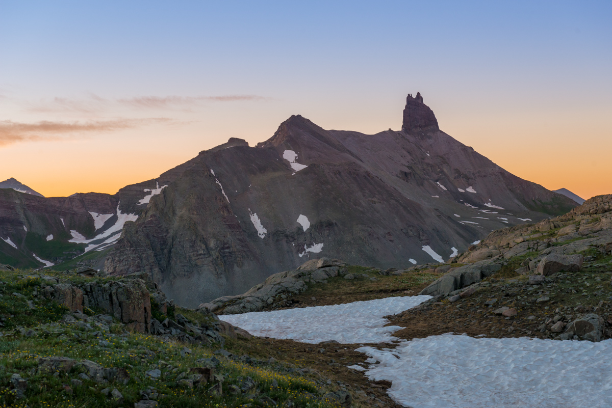 Lizard Head Peak sunrise