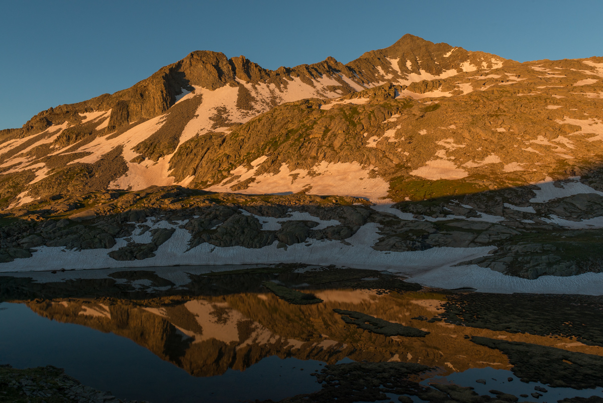Gladstone Peak alpenglow reflection