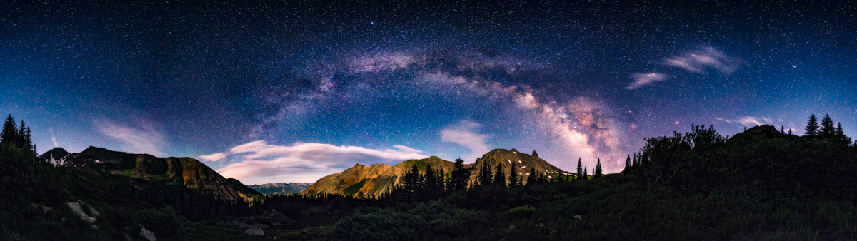 360 Milky Way panorama Telluride Colorado