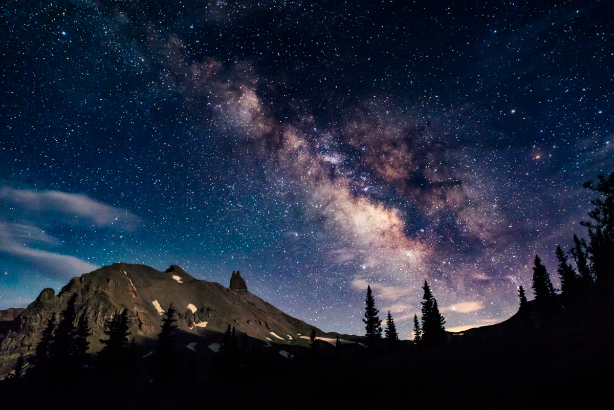Milky Way over Lizard Head Peak Telluride Colorado