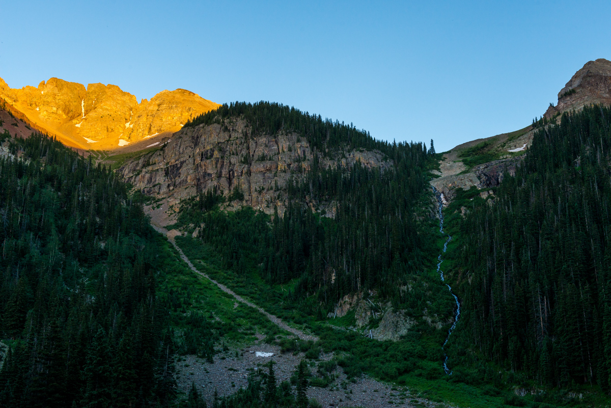 Alpenglow in Bilk Basin