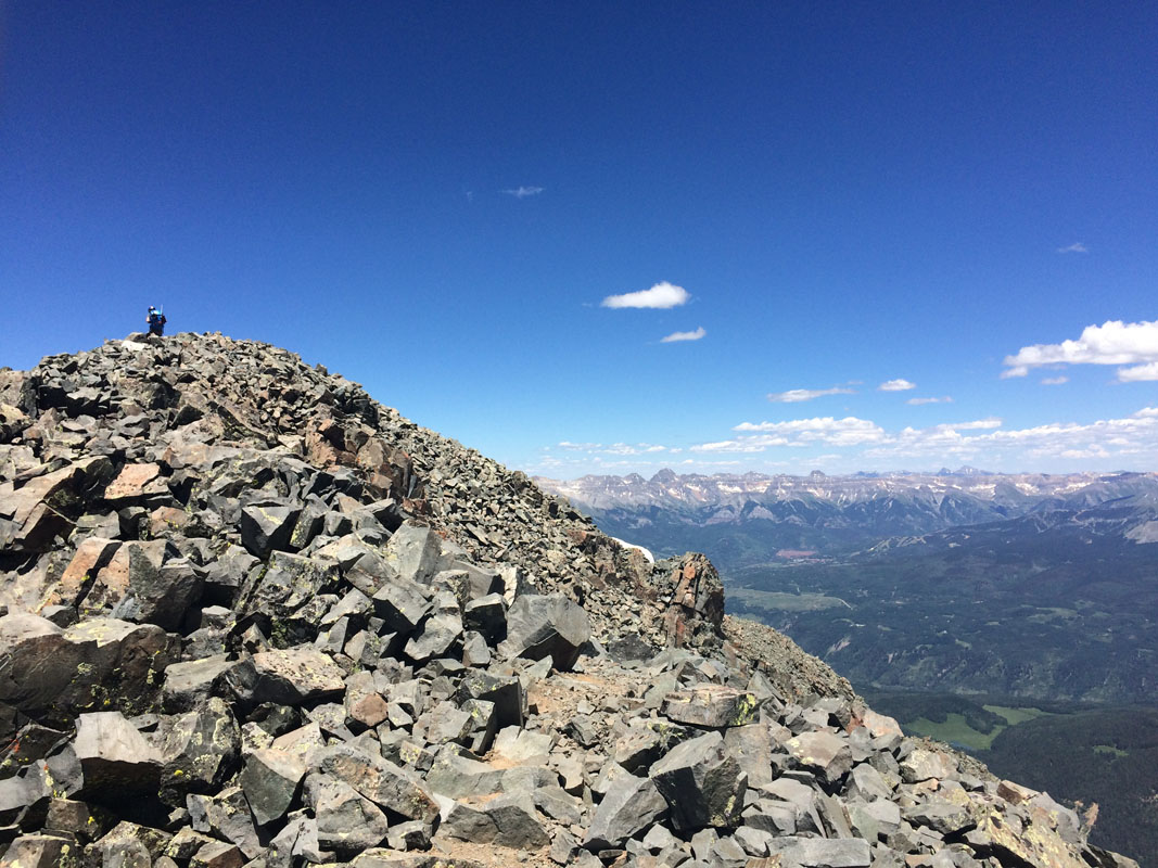 Summiting Wilson Peak