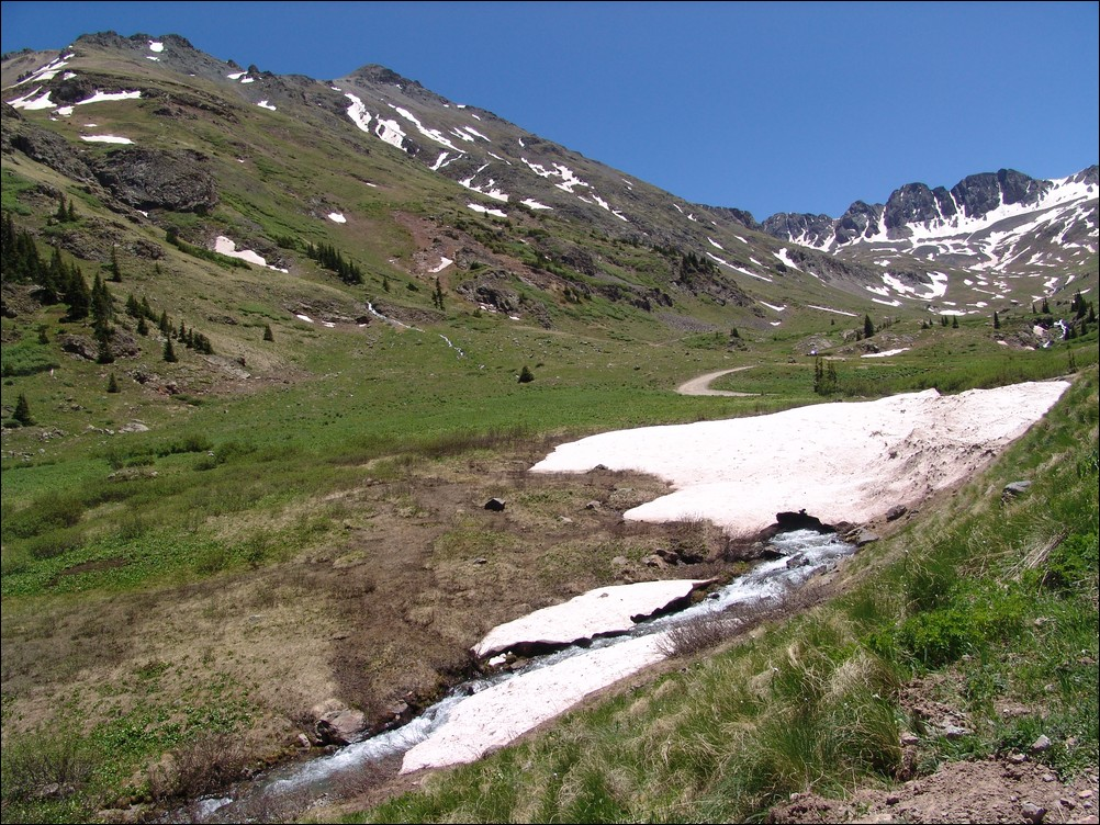 American Basin snowfield