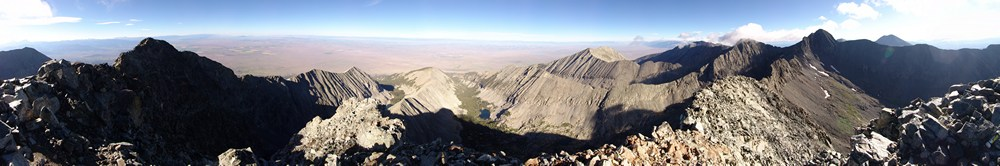 360 Degree view from the summit of Little Bear Peak