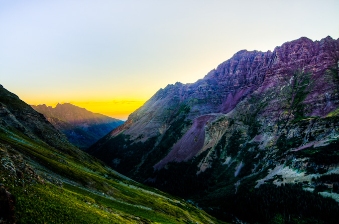 Maroon Creek valley at sunrise