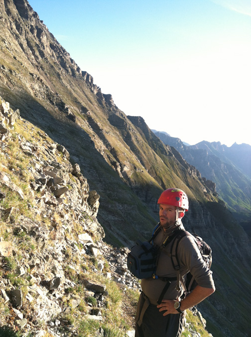 Matt nearing the ridge of Maroon Peak