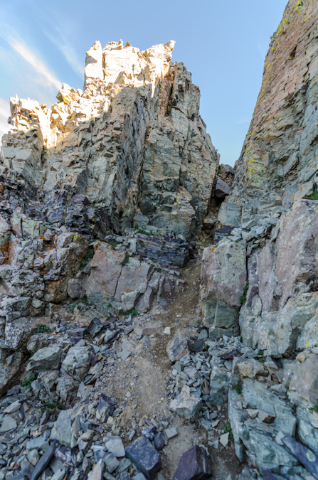 Second gully on Maroon Peak