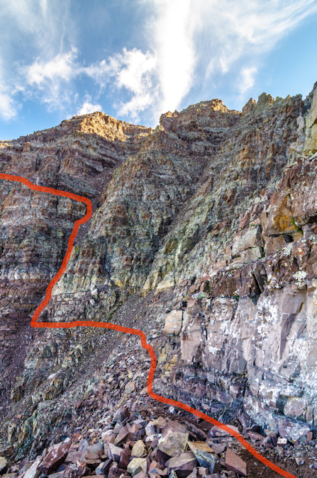 Gully choice on Maroon Peak