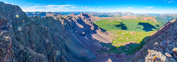 Panoramic from the middle of the Maroon Peak climb