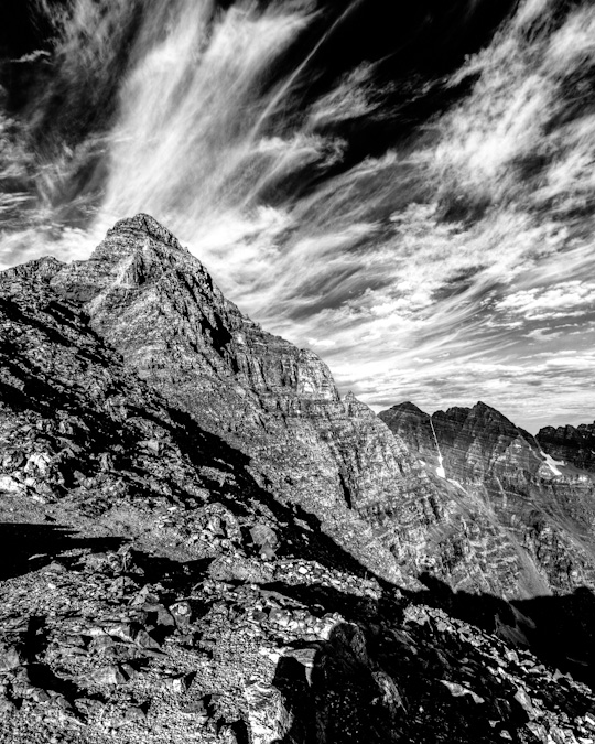 Pyramid Peak Black and White