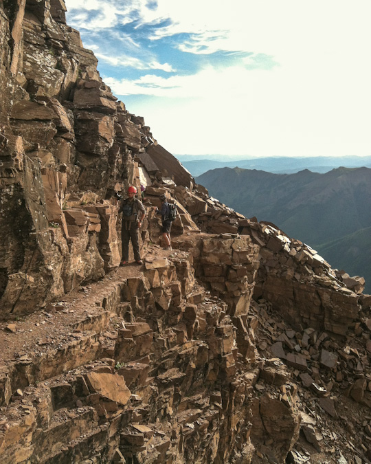Pyramid Peak ledges