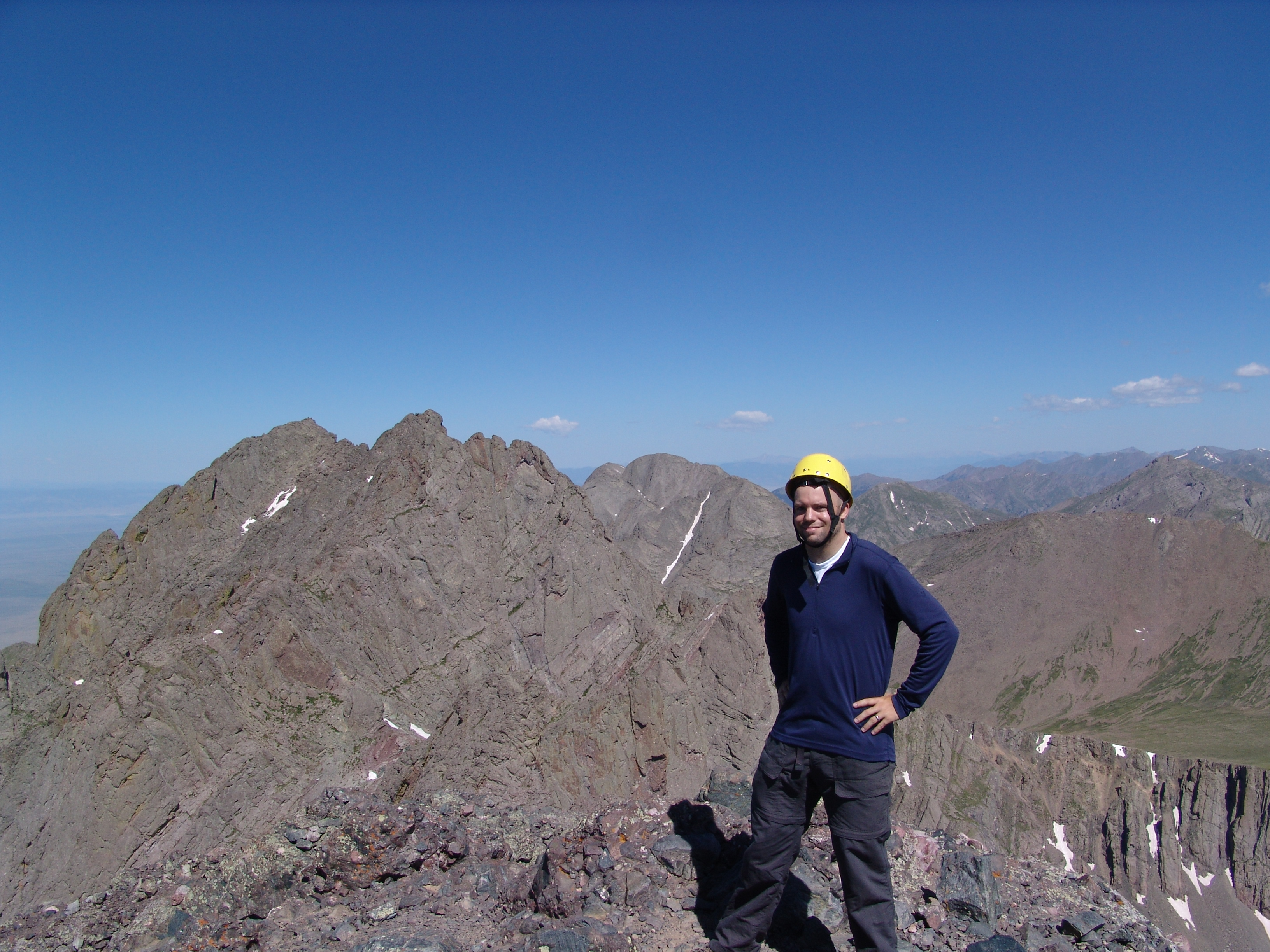Matt Payne on Crestone Needle Summit