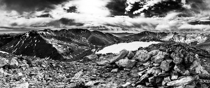 Mount Oklahoma summit black and white