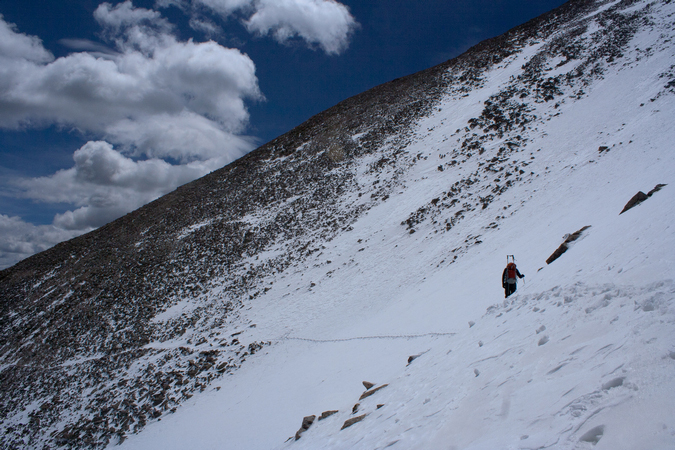 Matt Payne Crossing Snowfield on Princeton