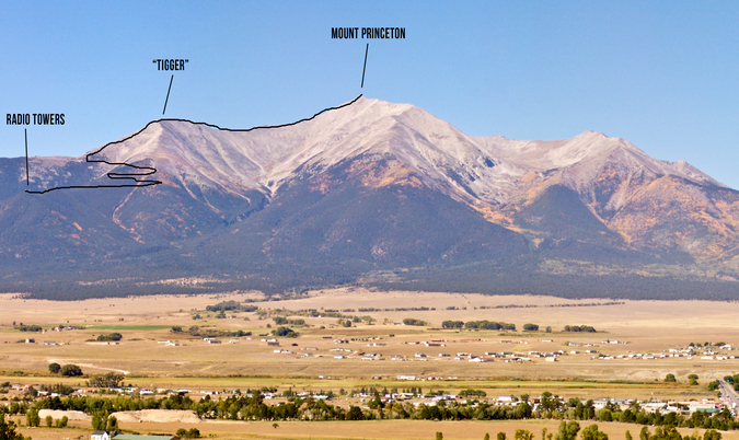 Mount Princeton Route Photo