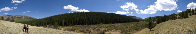 Hiking Out Pano