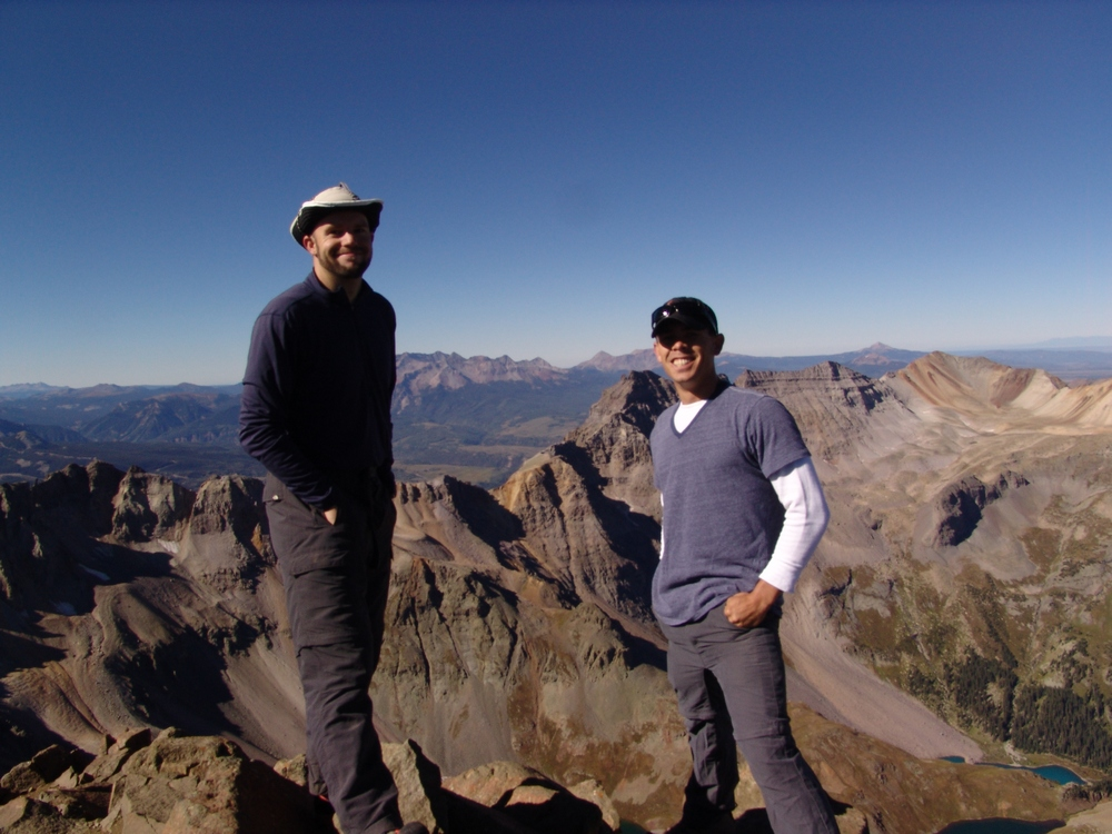 Matt and Arron on Sneffels summit