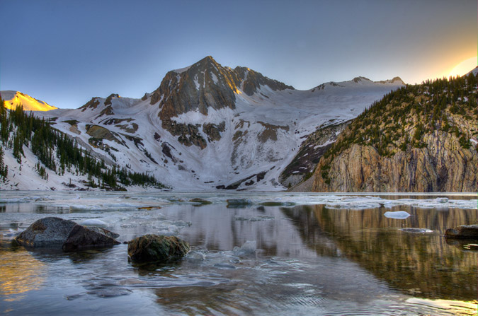 Snowmass Lake HDR Reflection