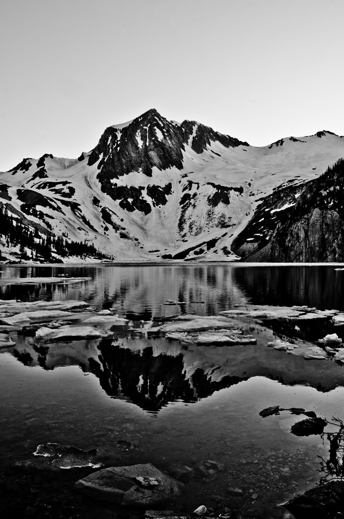 Snowmass Lake Black and White