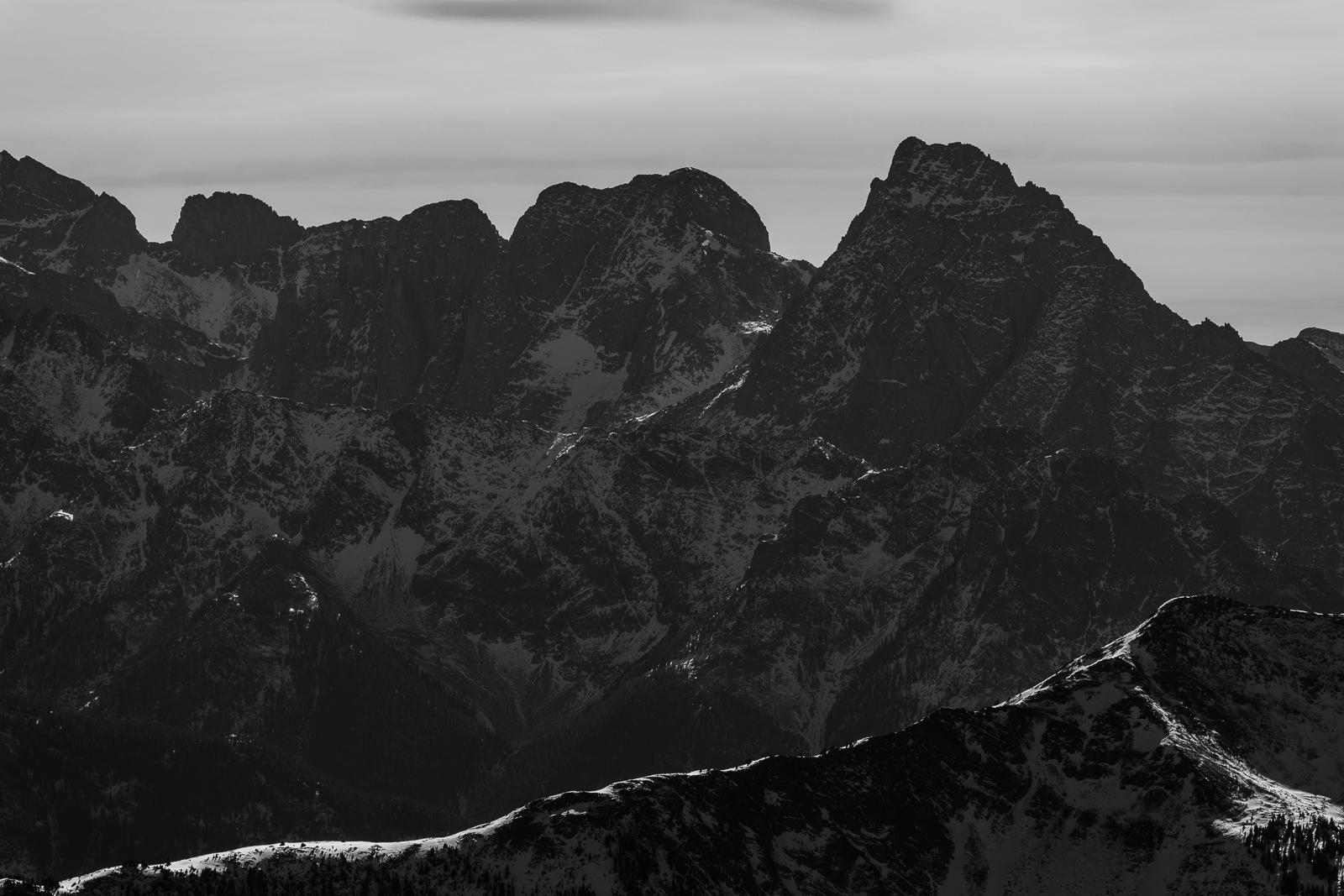 Pigeon Peak black and white