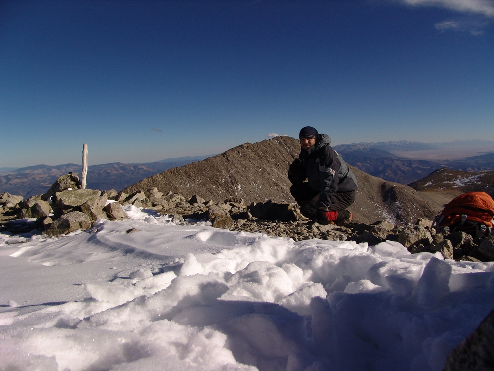 Matt on the Tabeguache Summit