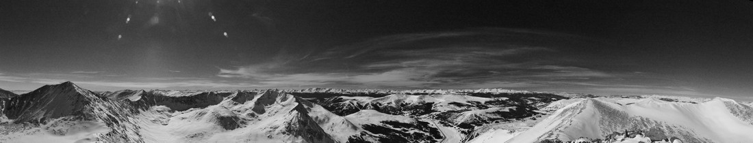 Black and White view of the Sawatch Range