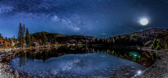 The Milky Way and Lake San Cristobal