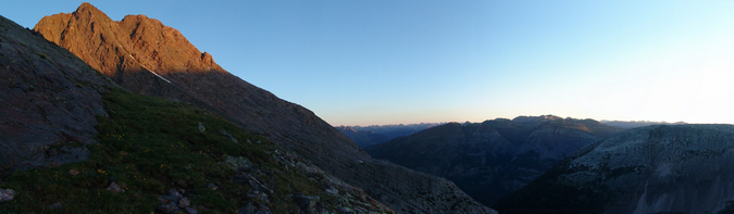 Arrow Peak at Sunrise Pano