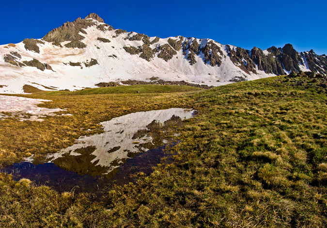 Wetterhorn Reflection Panoramic
