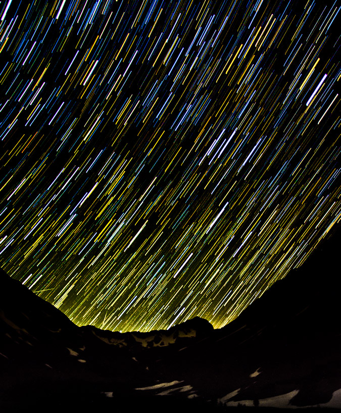 Star Trails Above Navajo Lake