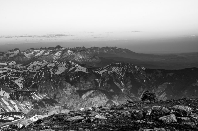 Mount Sneffels Black and White HDR