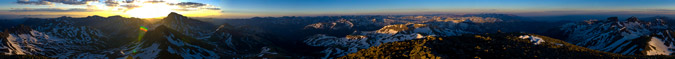 360 Panoramic from Wetterhorn