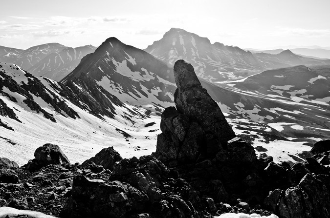 Uncompahgre and Matterhorn Black and White